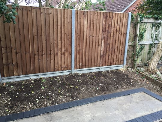 Conctrete and New Fence Installed in Chatteris
