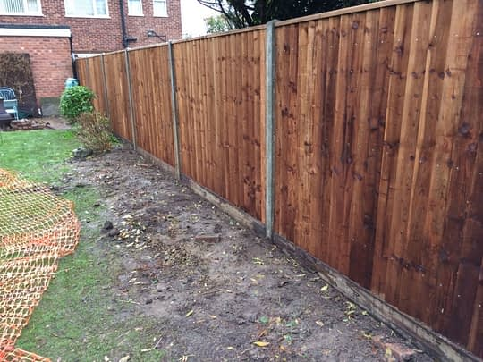 Featheredge Fencing installed in Peterborough