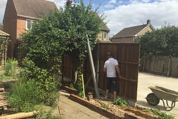 New fence installed in sallows road, Peterborough