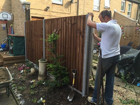 Fence install in Orton Goldhay