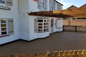 Matoni's Restaurant Resin Bound Install in Eye Peterborough