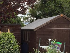Rubber Roof on Shed
