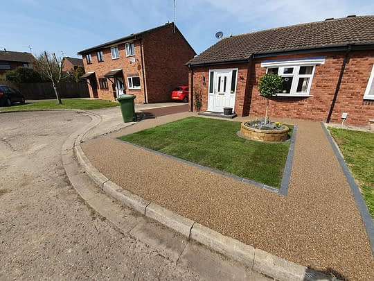 Resin Bound Drivway and Garden in Werrington