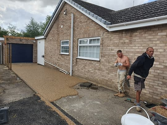 Installation of Resin Bound in Maxey