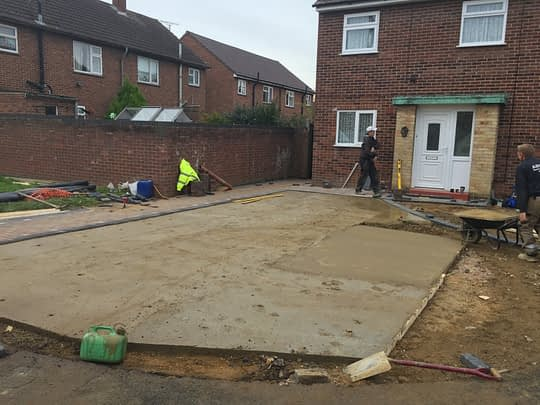 Concrete Being Installed For Resin Overlay