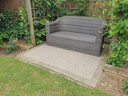 Resin Bound Seating Area