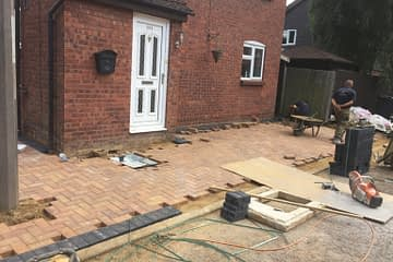Block paving being installed in Peterborough