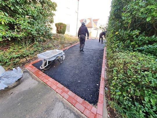 Resin Driveway Being Laid in Ketton