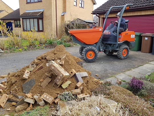 Driveway Being Prepared in Orton