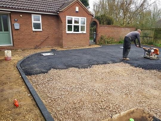 Tarmac Being installed in Langtoft
