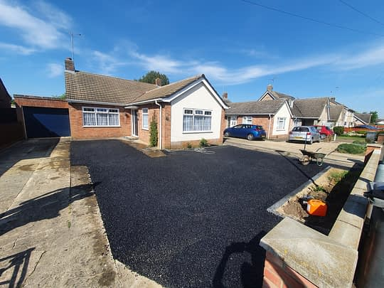 Open Course Bitumen Base installed in Gunthorpe