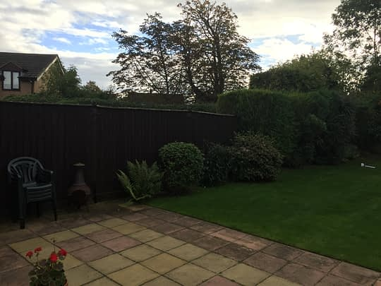 Before Garden was Lifted and new Patio