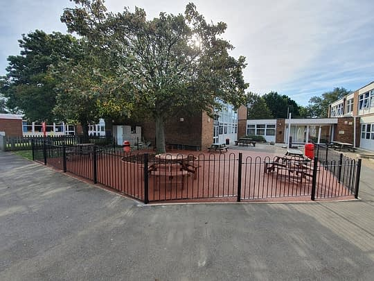 Resin Bound Area and Railings for School