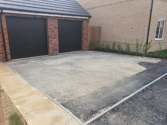 New Build Driveway Ready for Resin Bound