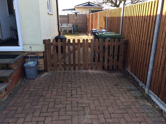 (AFTER) New Wooden Driveway Gates