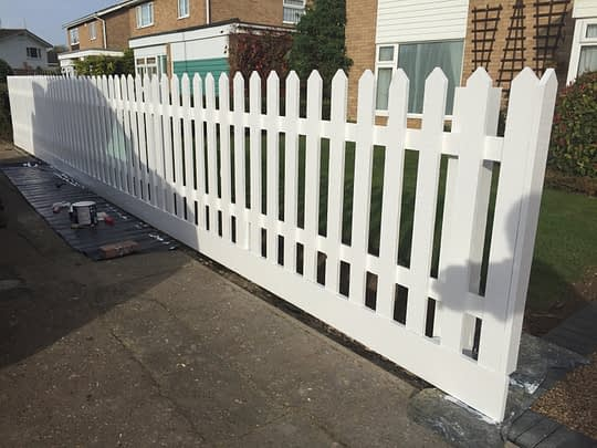 White Picket Fence Install in Bretton