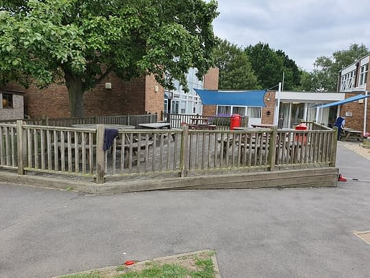 Old Decking Area at Highlees School Peterborough