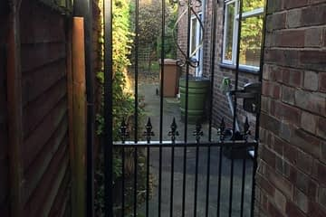 Metal garden gates installed in Peterborough