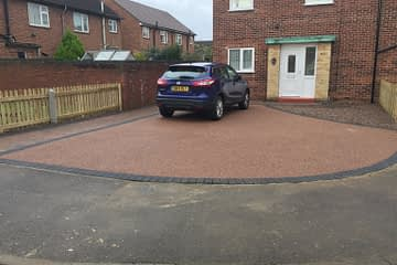 Resin and Block Paved Driveway