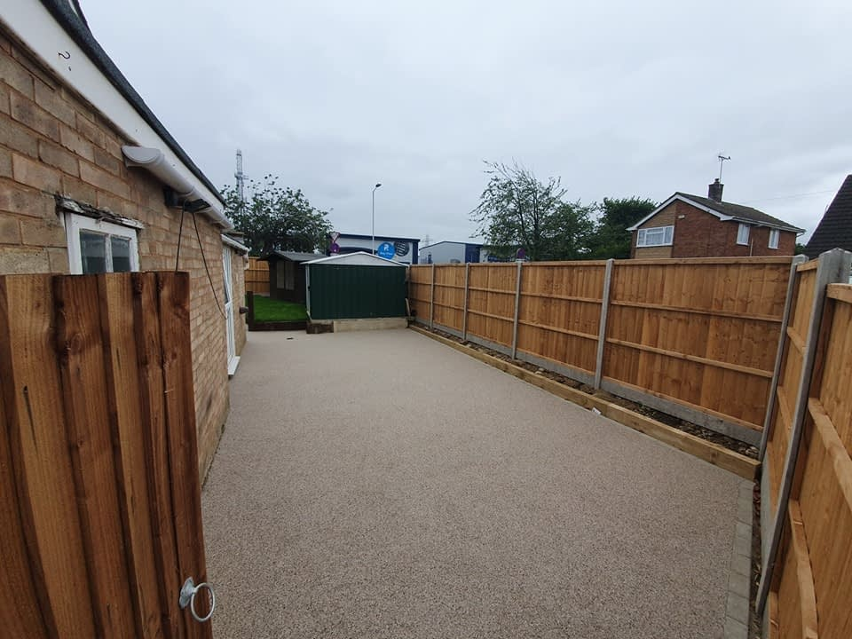 Patio Area finished in Resin