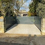Automated driveway gates installed in Kingscliffe