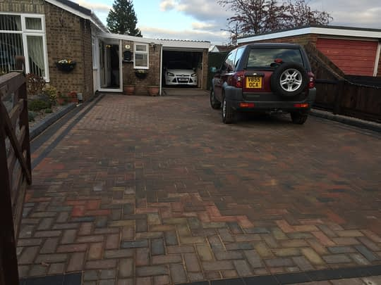 Block Paved Drive in Whittlesey