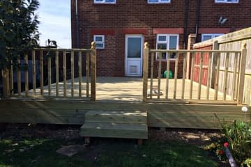 Large Decking Installation in Peterborough