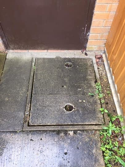 Ugly Old Manhole Covers