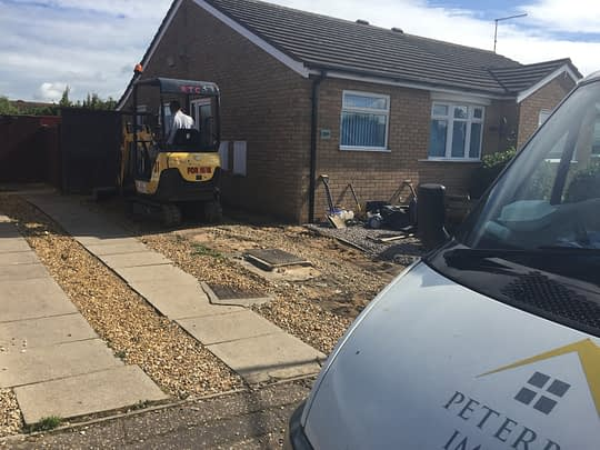 Old Driveway being Excavated