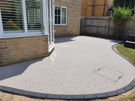Large Resin Bound Patio