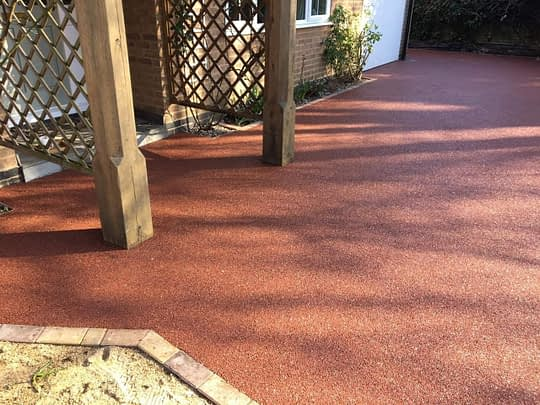 Daltex Red Resin Bound Driveway Peterborough