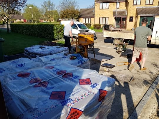 Resin all on site ready to be installed