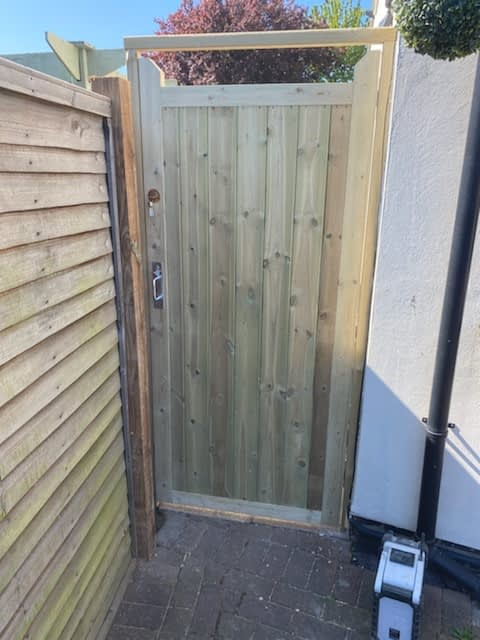 Tongue and Groove Gate installed in Werrington Peterborough