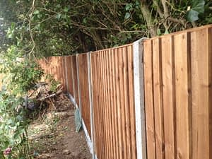 Fence installed for customer in Dogsthorpe