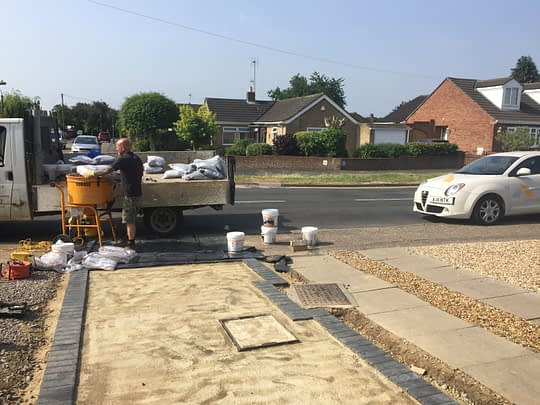 Block Edgings installed for Resin Drive