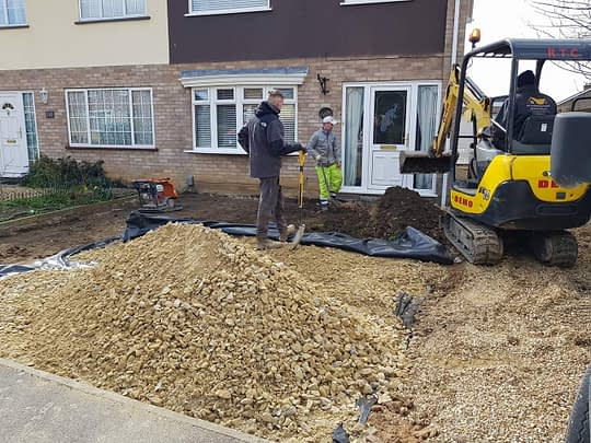 New Base Being Installed for Gravel Driveway
