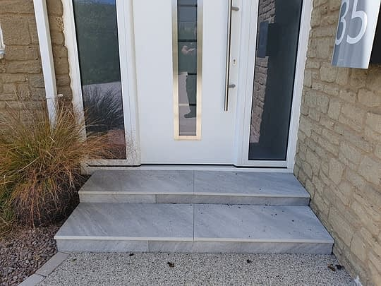 Porcelain Step Installed in KingsCliffe