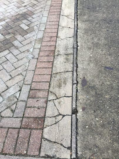 Area that was removed for new Kerb Edgings to Neighbours Block Paving