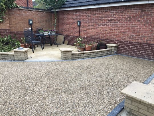 Patio area and garden now all Resin