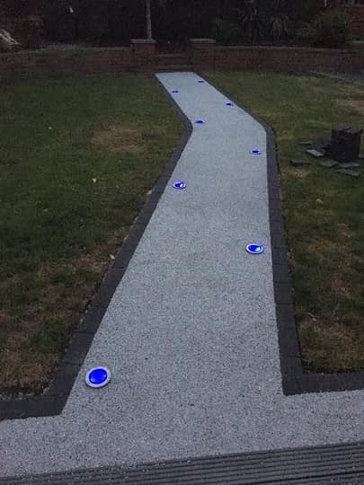 Resin Pathway install with Solar Lights