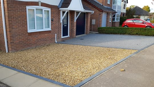 Resin Bound Driveway in Dundee Drive Stamford