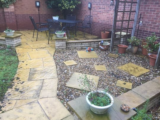 Patio Area before Resin