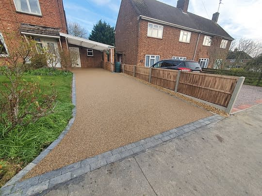 Resin Driveway installed in Stamford Lincs