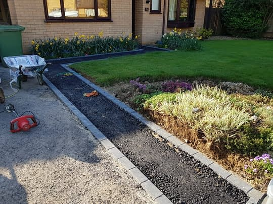 New Pathway Installed next to Driveway