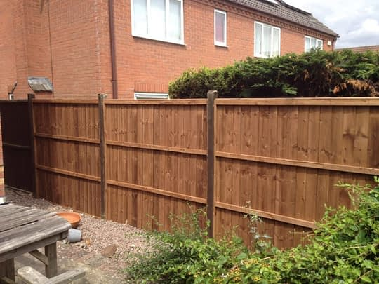 Fence for client in Oaham (closeboard)