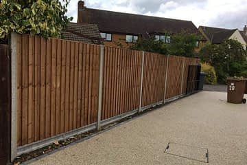 Fencing installation in Bretton