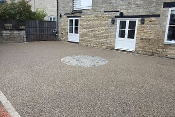 Resin Courtyard in Tinwell