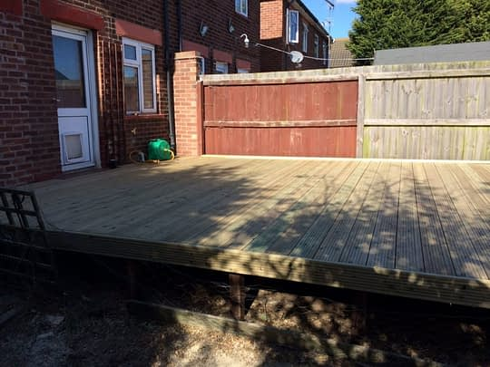 Decking install completed