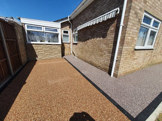 Resin Bound Patio and Pathway in Whittlesey