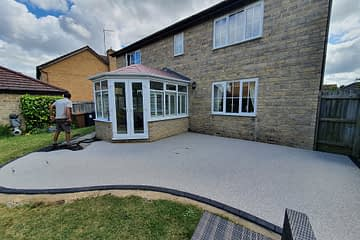 Resin Bound Patio in Orton Peterborough